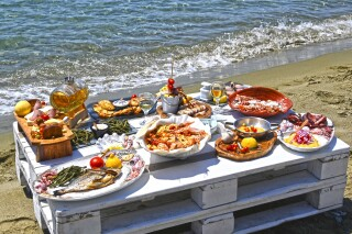 tinos events akti aegeou dinner by the sea